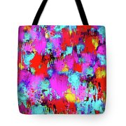 Melting Flowers Abstract  Tote Bag