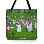 Memorial Day Salute Tote Bag