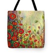 Memories Of Grandmother's Garden Tote Bag
