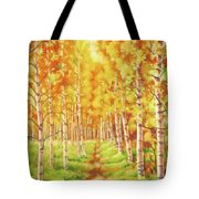 Memories Of The Birch Country Tote Bag