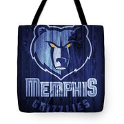 Memphis Grizzlies Barn Door Tote Bag