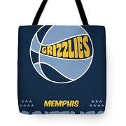 Memphis Grizzlies Vintage Basketball Art Tote Bag