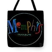 Memphis Neon Sign Tote Bag