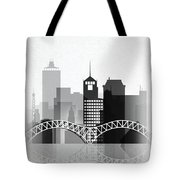 Memphis, Tennessee Skyline  Tote Bag