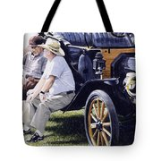 Men And Their Toys Tote Bag