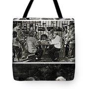 Men At Play Tote Bag