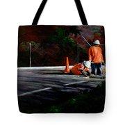 Men At Work II Tote Bag