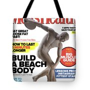 Men' Health Now And Then Tote Bag