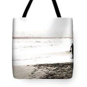 Men On Beach Tote Bag