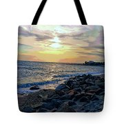Menauhant Abstracted Sunset Tote Bag