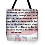 Mencken Quote 7 Tote Bag
