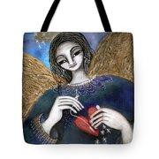 Mender Of Hearts Angel Tote Bag by Prerna Poojara