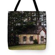 Mendocino Schoolhouse Tote Bag by Grant Groberg