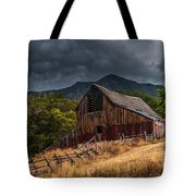 Mendon Utah Barn In Storm Tote Bag by Gary Whitton