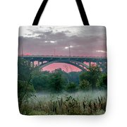Mendota Bridge Sunrise Tote Bag