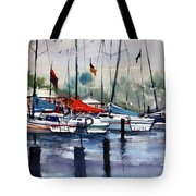 Menominee Marina Tote Bag by Ryan Radke