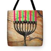 Menorah Tote Bag by Garry Gay