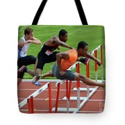 Mens Hurdles Tote Bag