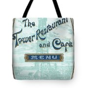 Menu For Lunch At Blackpool Tower Restaurant Tote Bag