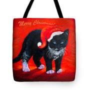 Meow Christmas Kitty Tote Bag