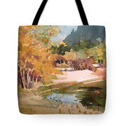 Merced River Encounter Tote Bag