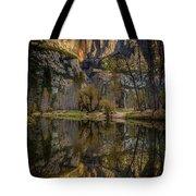 Merced River Morning Light Reflection Tote Bag