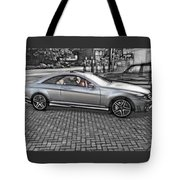 Mercedes Amg Black And White Tote Bag
