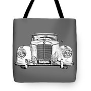 Mercedes Benz 300 Luxury Car Illustration Tote Bag