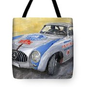 Mercedes Benz 300 Sl 1952 Carrera Panamericana Mexico  Tote Bag by Yuriy  Shevchuk