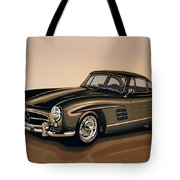 Mercedes Benz 300 Sl 1954 Painting Tote Bag