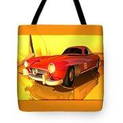 Mercedes-benz 300 Sl Red Tote Bag
