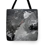 Mercurial Ice Abstract Tote Bag