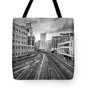 Merging Tracks Tote Bag