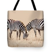 Merging Zebra Stripes Tote Bag