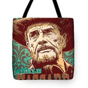 Merle Haggard Pop Art Tote Bag