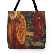 Merlin And Nimue 1861 Tote Bag