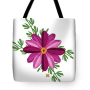 Merlot Cosmos Botanical Tote Bag by Anne Norskog