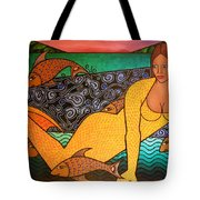Mermaid And Friends Tote Bag
