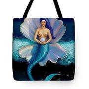 Mermaid Art- Mermaid's Pearl Tote Bag