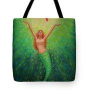 Mermaid Art- Mermaid's Starlight Tote Bag
