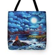 Mermaid At The Golden Gate Bridge  Tote Bag
