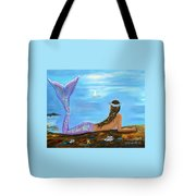 Mermaid Beauty On The Beach Tote Bag