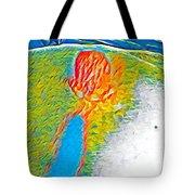 Mermaid Dives In Tote Bag