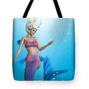 Mermaid In Aqua Tote Bag