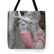 Mermaid In Pink Tote Bag