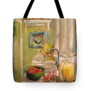 Mermaid In The Kitchen Tote Bag