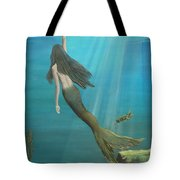 Mermaid Of Weeki Wachee Tote Bag