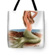 mermaid On The Shore Tote Bag