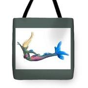 Mermaid On White Tote Bag