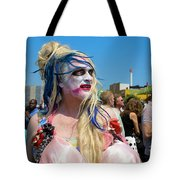Mermaid Parade Man In Coney Island Tote Bag